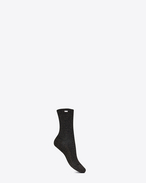 SAINT LAURENT RTW accessories D ribbed socks in black and gold lurex f