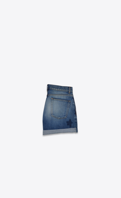 SAINT LAURENT Kurze Hosen Damen Weite Shorts in Vintage-Blau b_V4