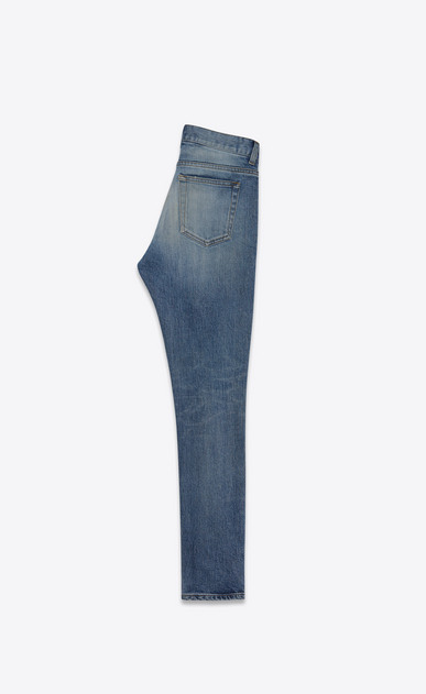 SAINT LAURENT Skinny fit D jeans a vita media skinny cropped blu in denim vintage b_V4