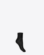 SAINT LAURENT RTW accessories D Chaussettes en sequins noirs f