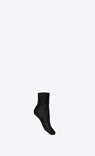 SAINT LAURENT RTW accessories D sequins socks in black jersey a_V4