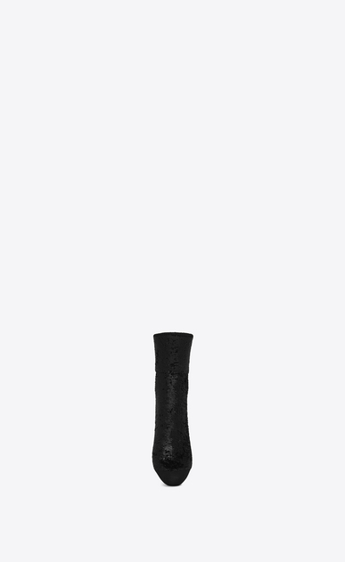 SAINT LAURENT RTW accessories D sequins socks in black jersey b_V4