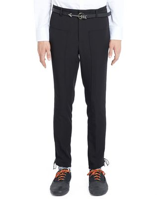 SLIM-FIT TROUSERS WITH SIDE LACES