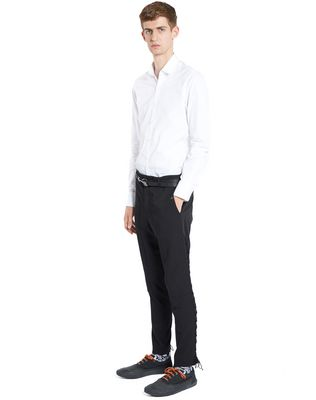 LANVIN SLIM-FIT TROUSERS WITH SIDE LACES Pants U e
