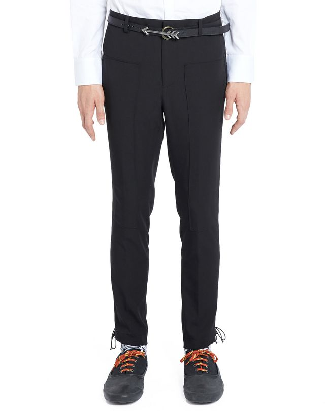LANVIN SLIM-FIT TROUSERS WITH SIDE LACES Pants U f