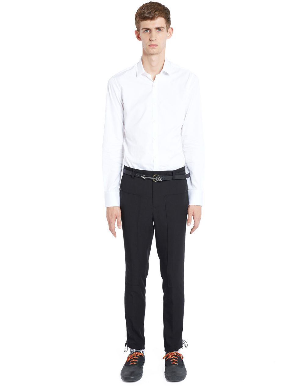 SLIM-FIT TROUSERS WITH SIDE LACES - Lanvin