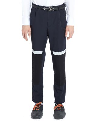 SLIM-FIT TROUSERS WITH REFLECTIVE PATCHES