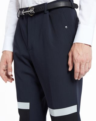 LANVIN SLIM-FIT TROUSERS WITH REFLECTIVE PATCHES Pants U a