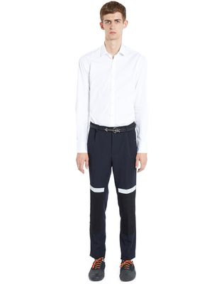 LANVIN SLIM-FIT TROUSERS WITH REFLECTIVE PATCHES Pants U r