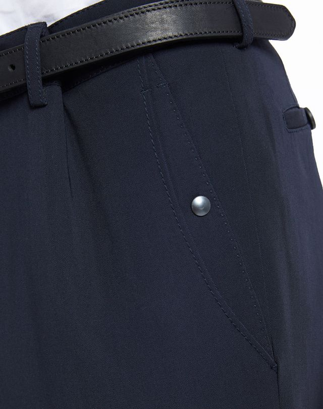 LANVIN SLIM-FIT TROUSERS WITH REFLECTIVE PATCHES Pants U b