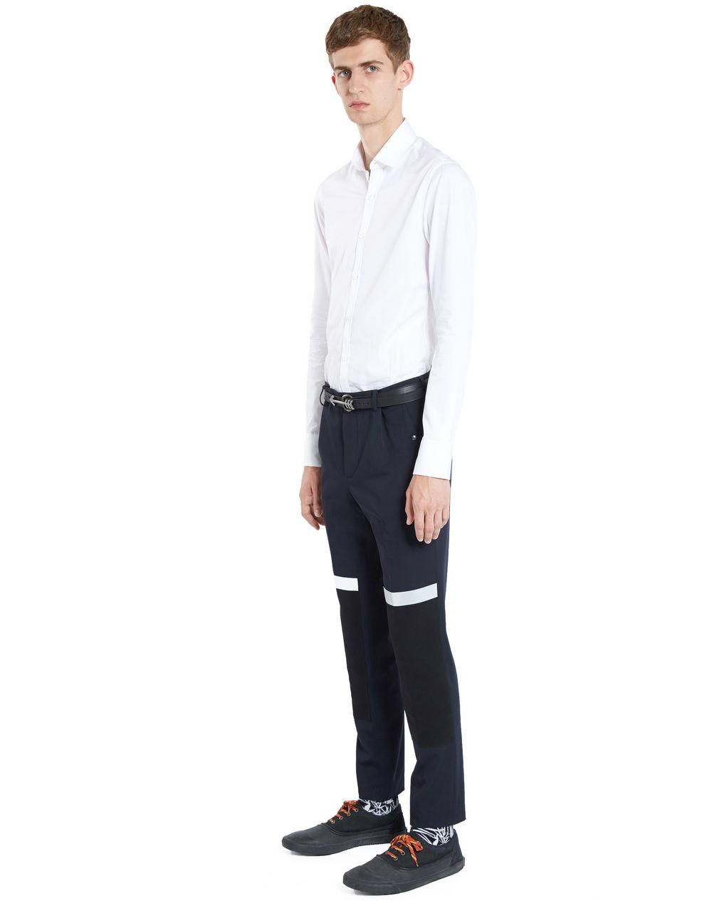 SLIM-FIT TROUSERS WITH REFLECTIVE PATCHES - Lanvin