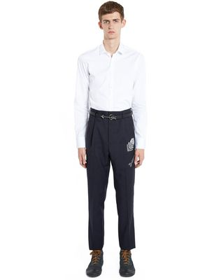 LANVIN EMBROIDERED STRAIGHT-LEG TROUSERS Pants U r
