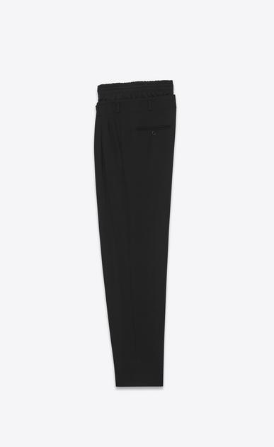 SAINT LAURENT Classic Pant U double waistband trouser in black virgin wool twill b_V4