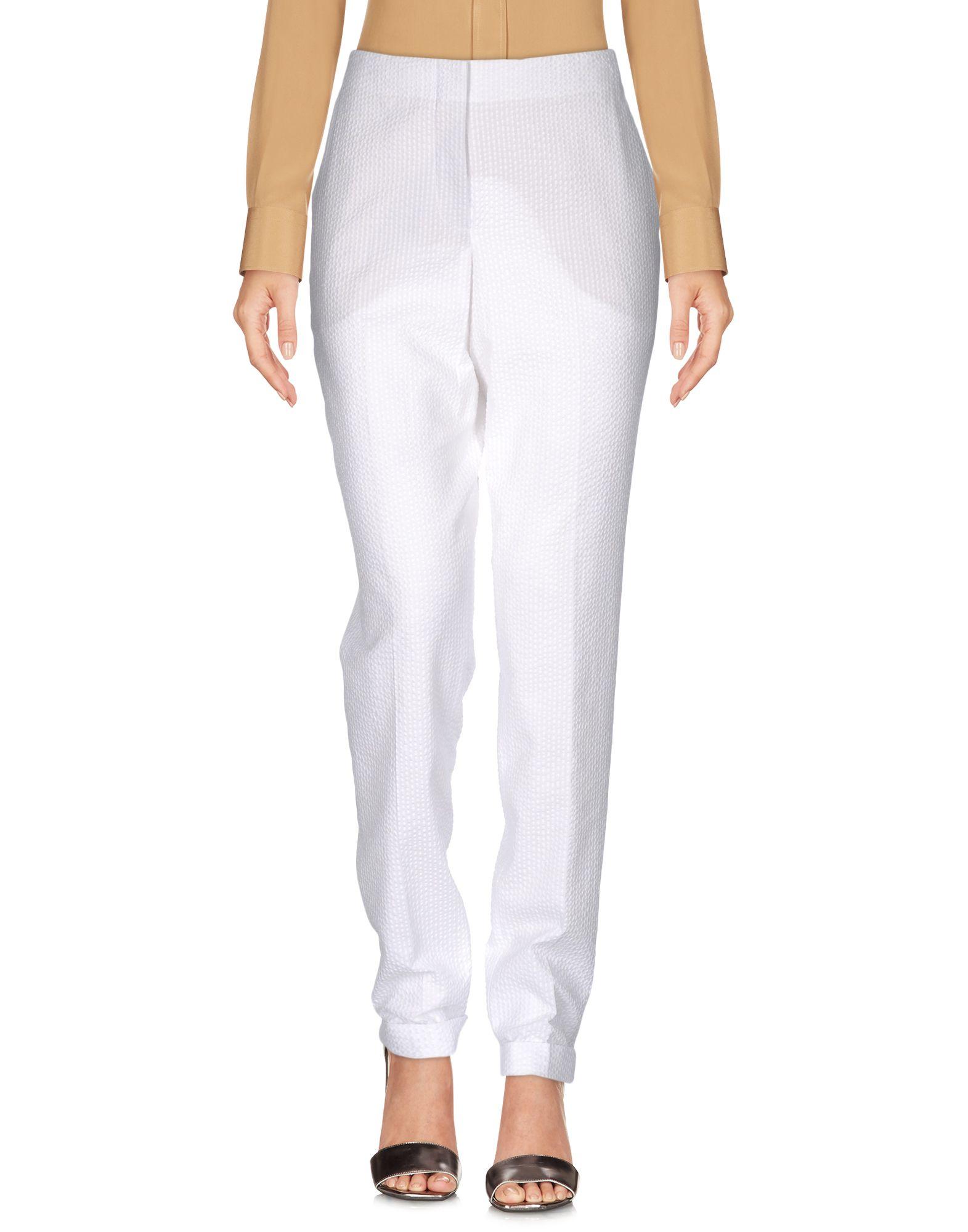 《送料無料》AKRIS レディース パンツ ホワイト 34 コットン 100%