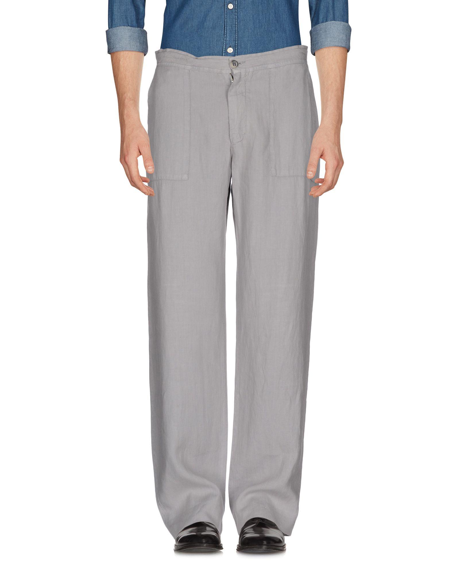 《送料無料》CANALI メンズ パンツ グレー 54 麻 100%