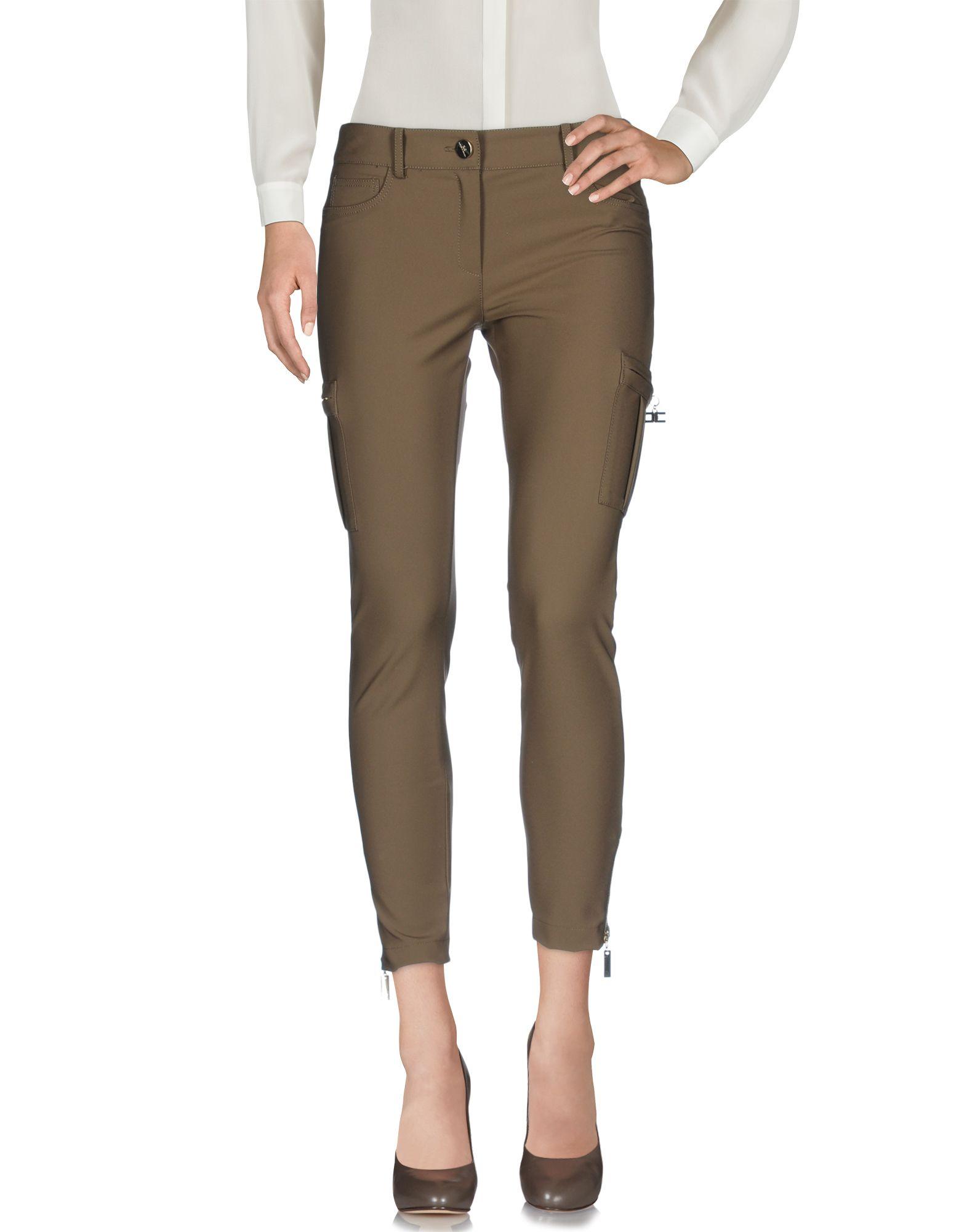 ELISABETTA FRANCHI Damen Hose Farbe Khaki Größe 6