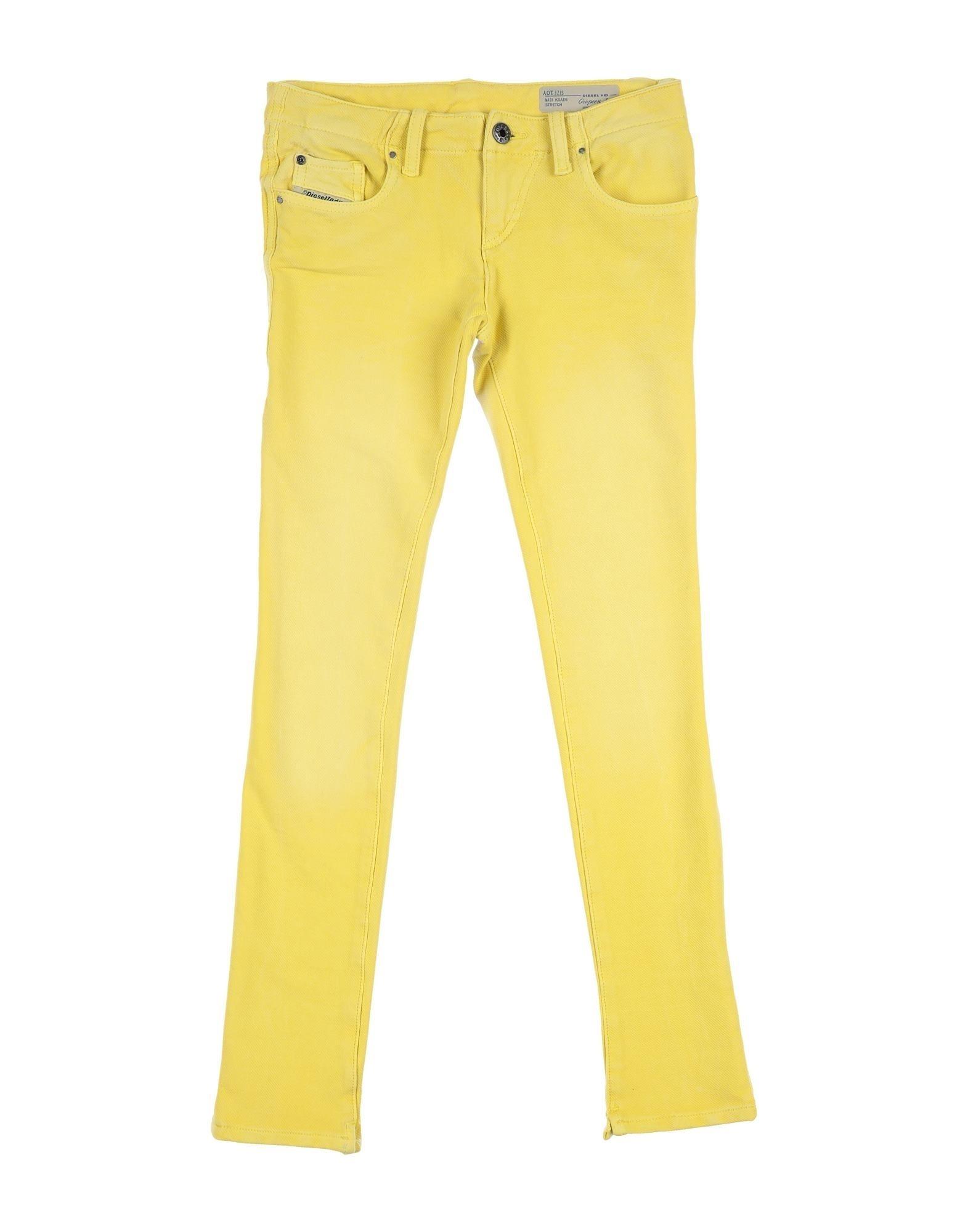 Diesel Kids' Casual Pants In Yellow