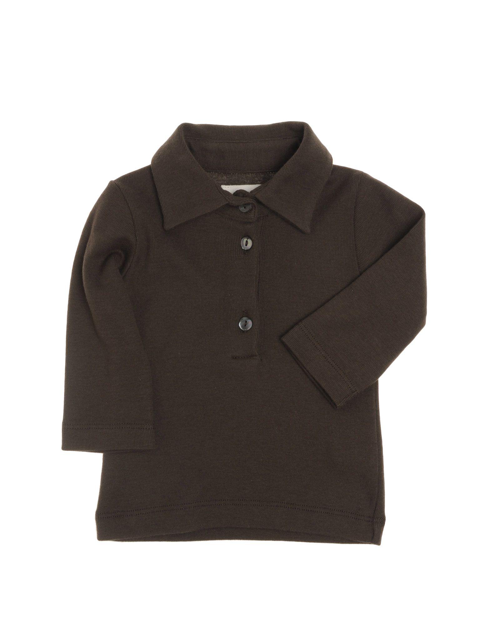 DOUUOD Mädchen 0-24 monate Poloshirt Farbe Dunkelbraun Größe 2