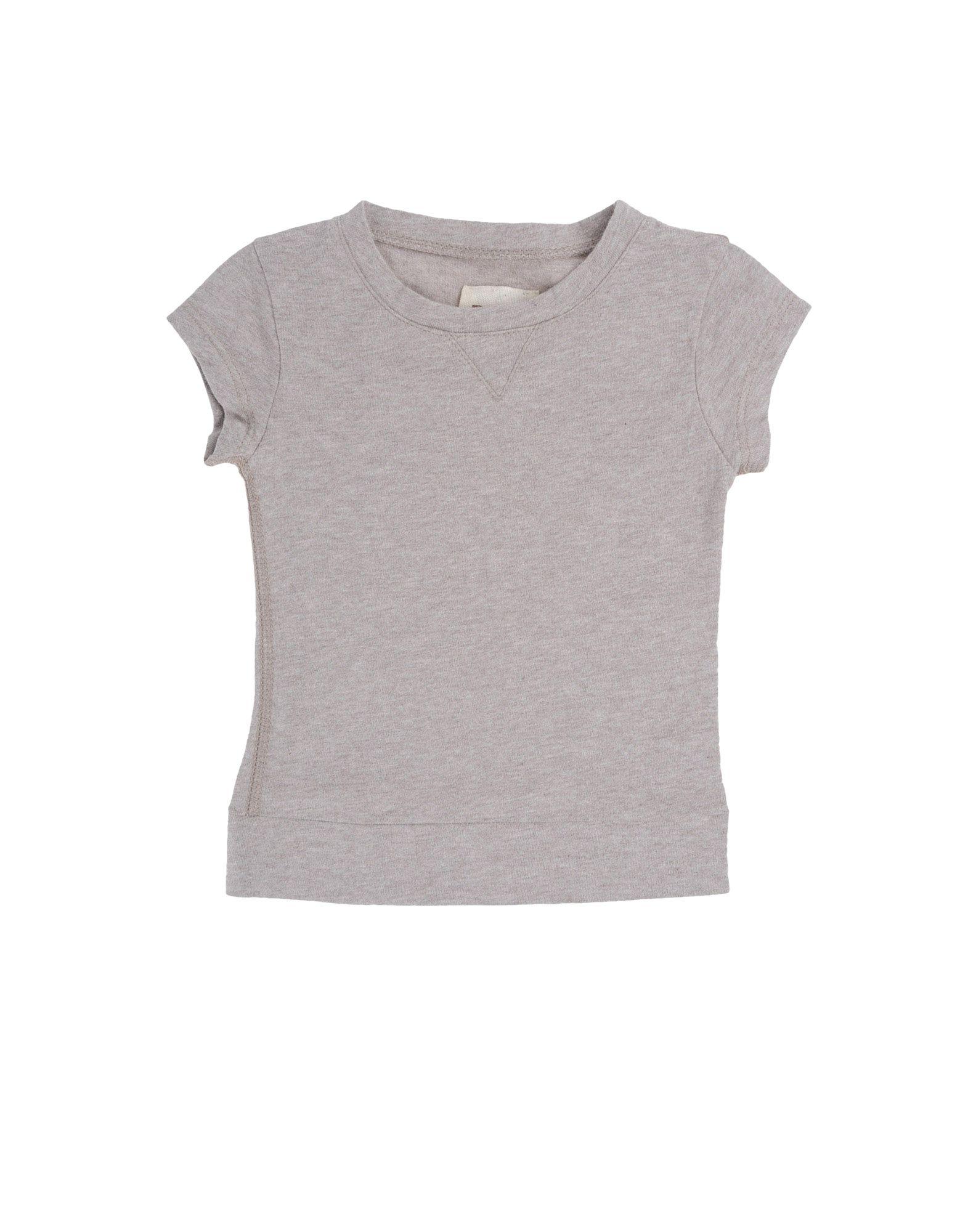 DOUUOD Mädchen 0-24 monate Kurzärmliges T-Shirt Farbe Taubengrau Größe 3
