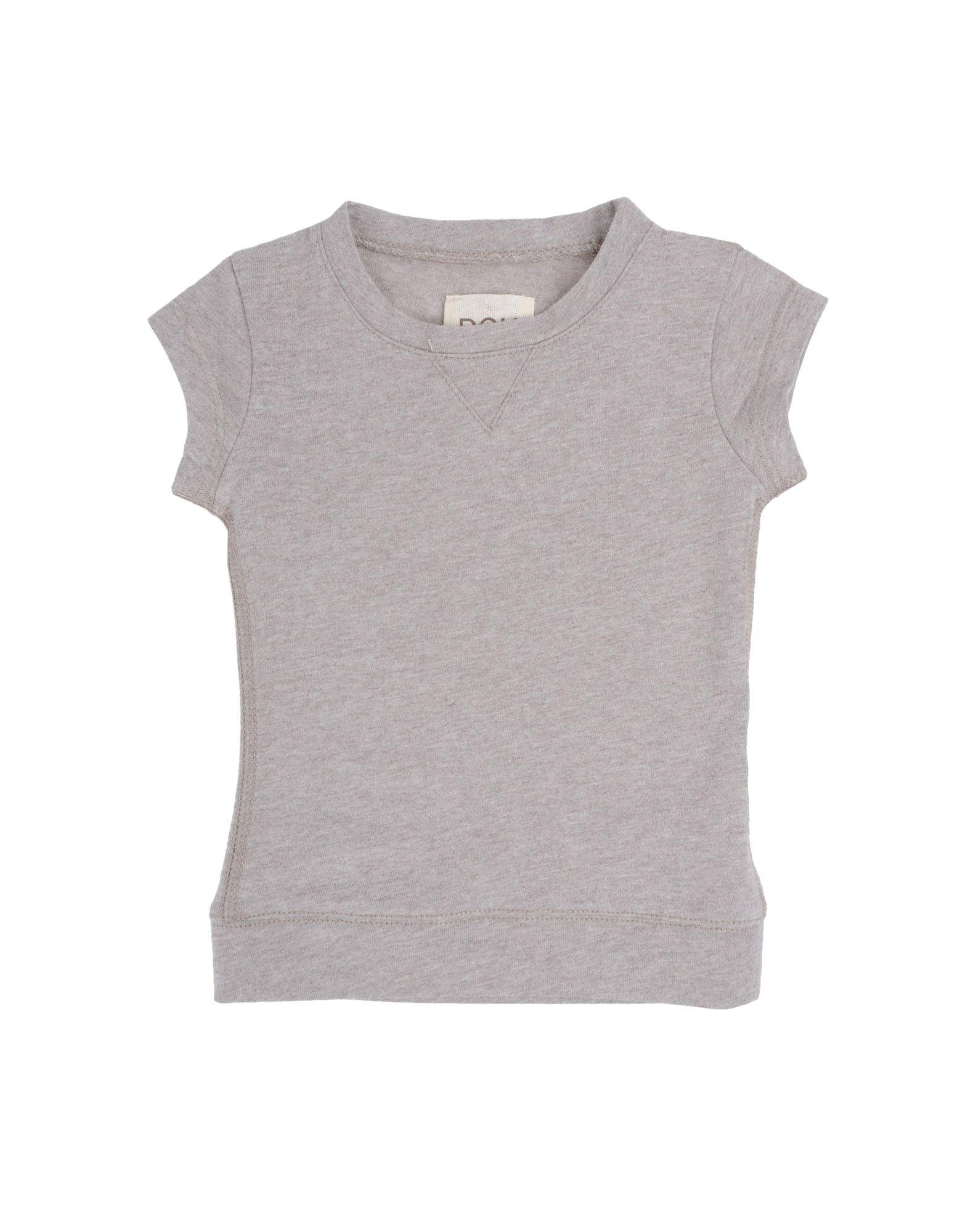 DOUUOD Mädchen 0-24 monate Kurzärmliges T-Shirt Farbe Taubengrau Größe 4