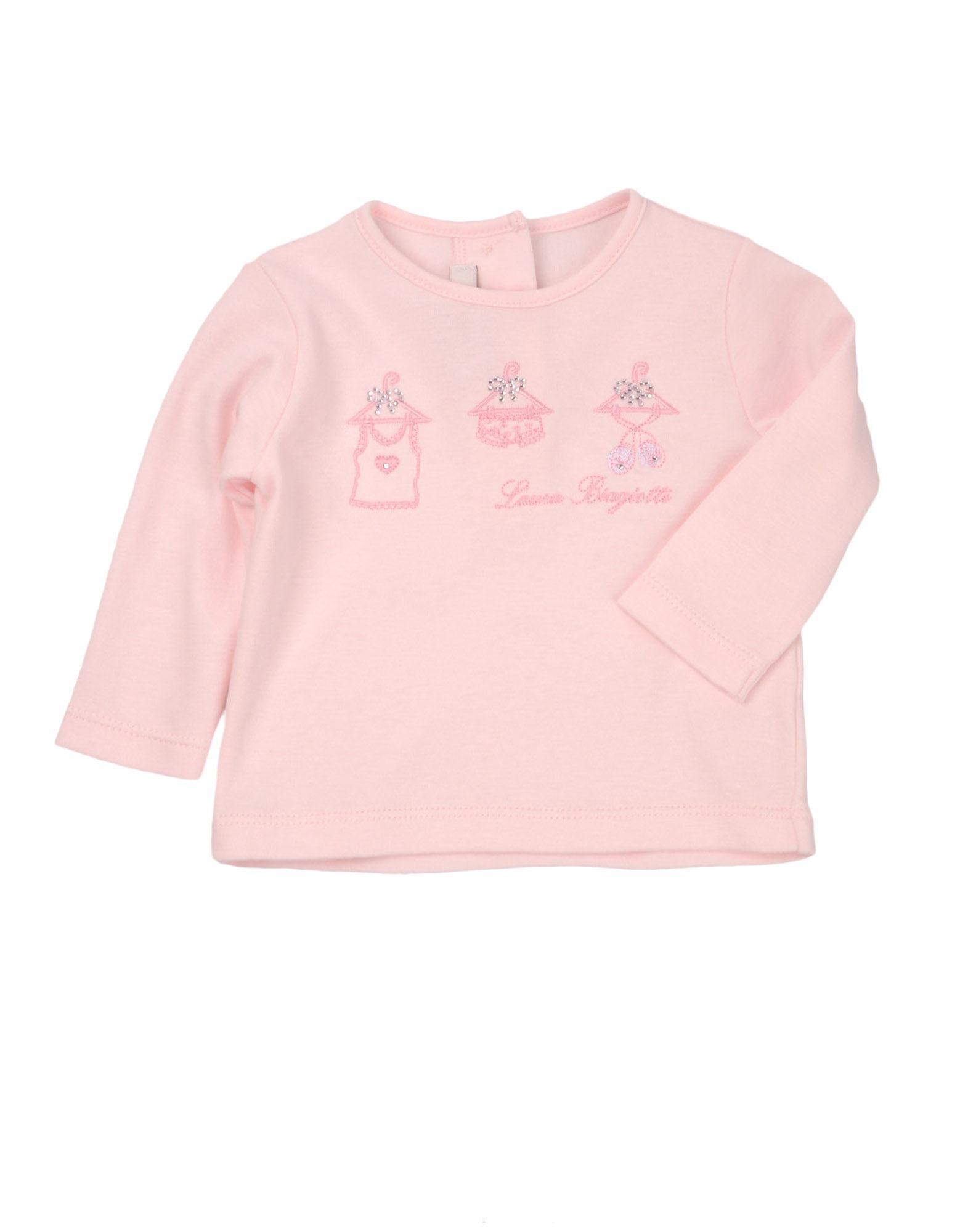 LAURA BIAGIOTTI BABY Mädchen 0-24 monate Langärmliges T-Shirt Farbe Rosa Größe 1