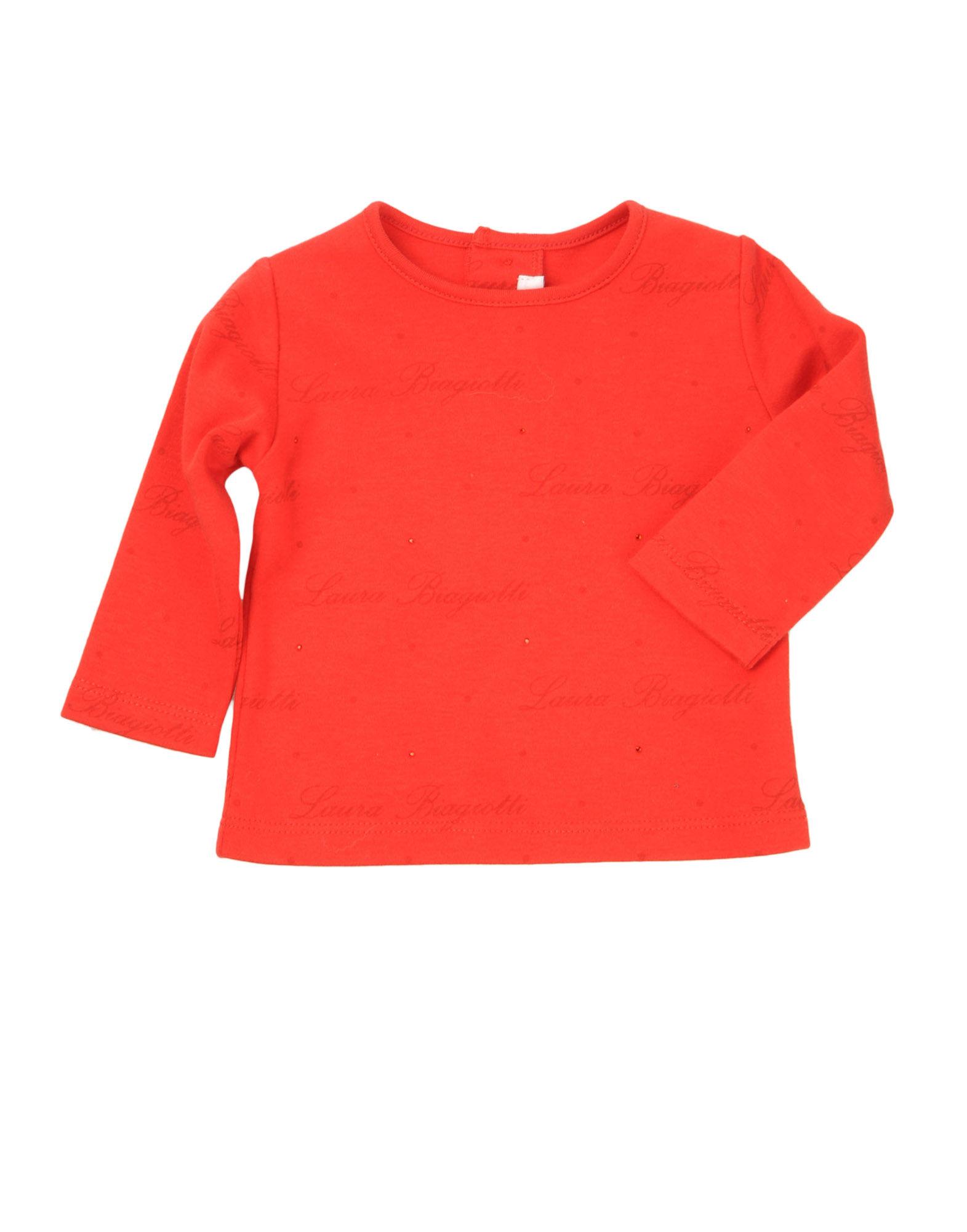 LAURA BIAGIOTTI BABY Mädchen 0-24 monate Langärmliges T-Shirt Farbe Rot Größe 1