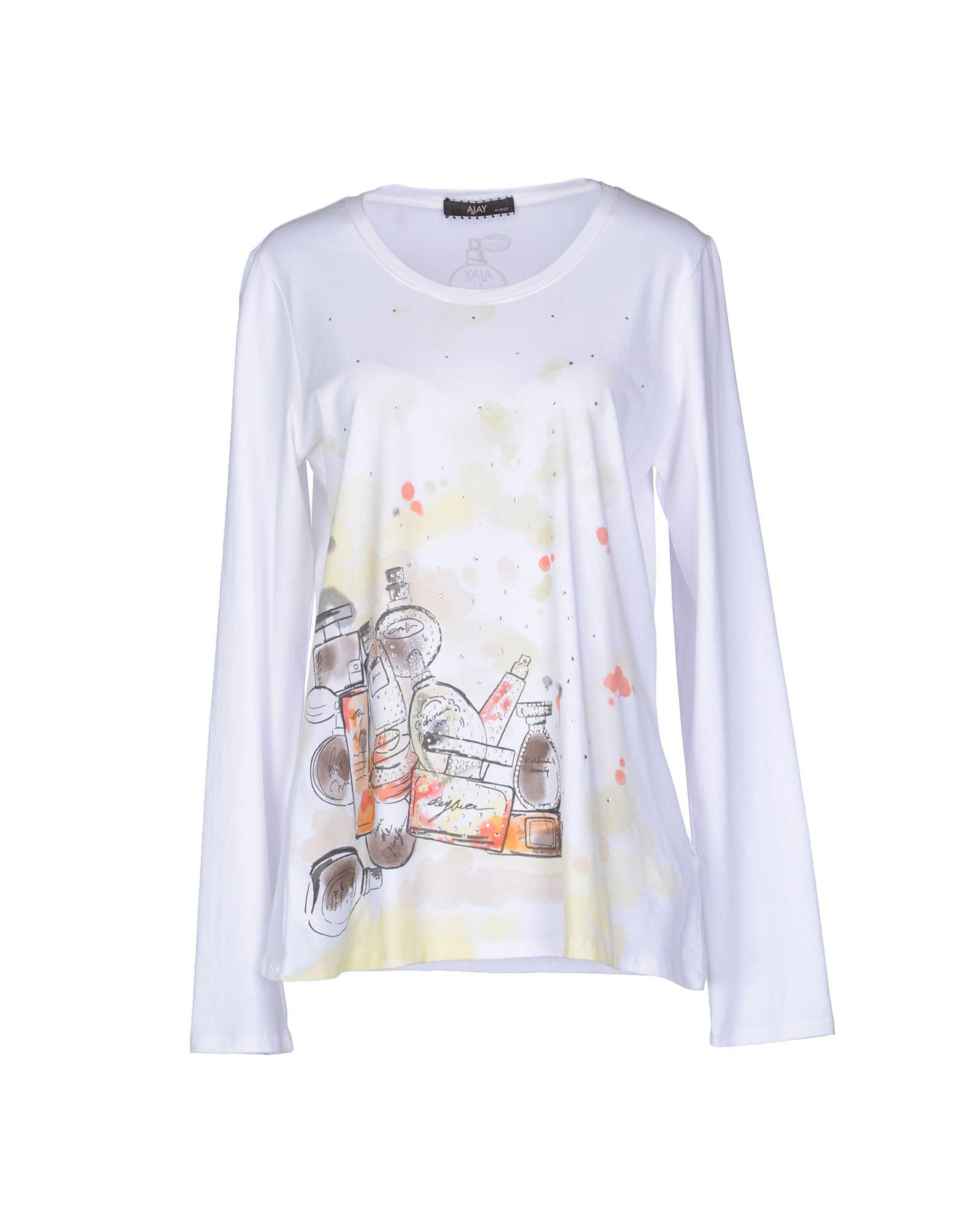 AJAY by LIU •JO Футболка с длинными рукавами классическое платье с длинными рукавами и складками на юбке liu jo