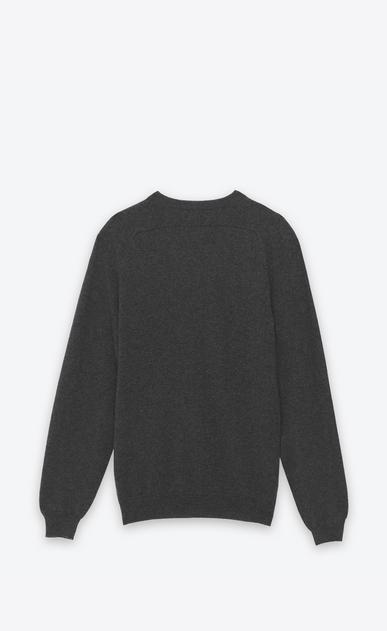 SAINT LAURENT Cashmere Tops U CLASSIC V-NECK SWEATER IN grey CAshemere b_V4