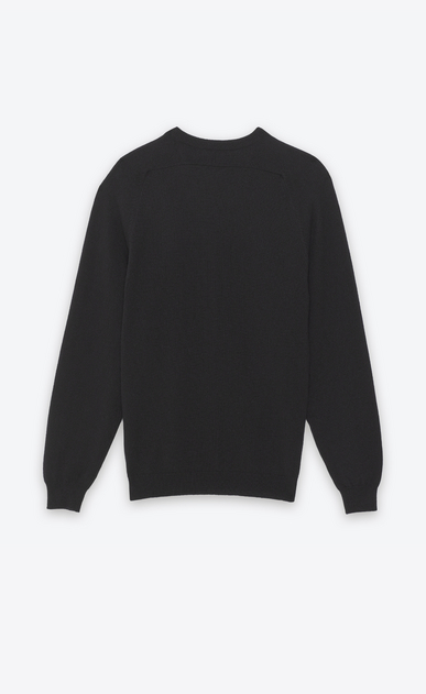 SAINT LAURENT Cashmere Tops U CLASSIC V-NECK SWEATER IN BLACK CAshemere b_V4
