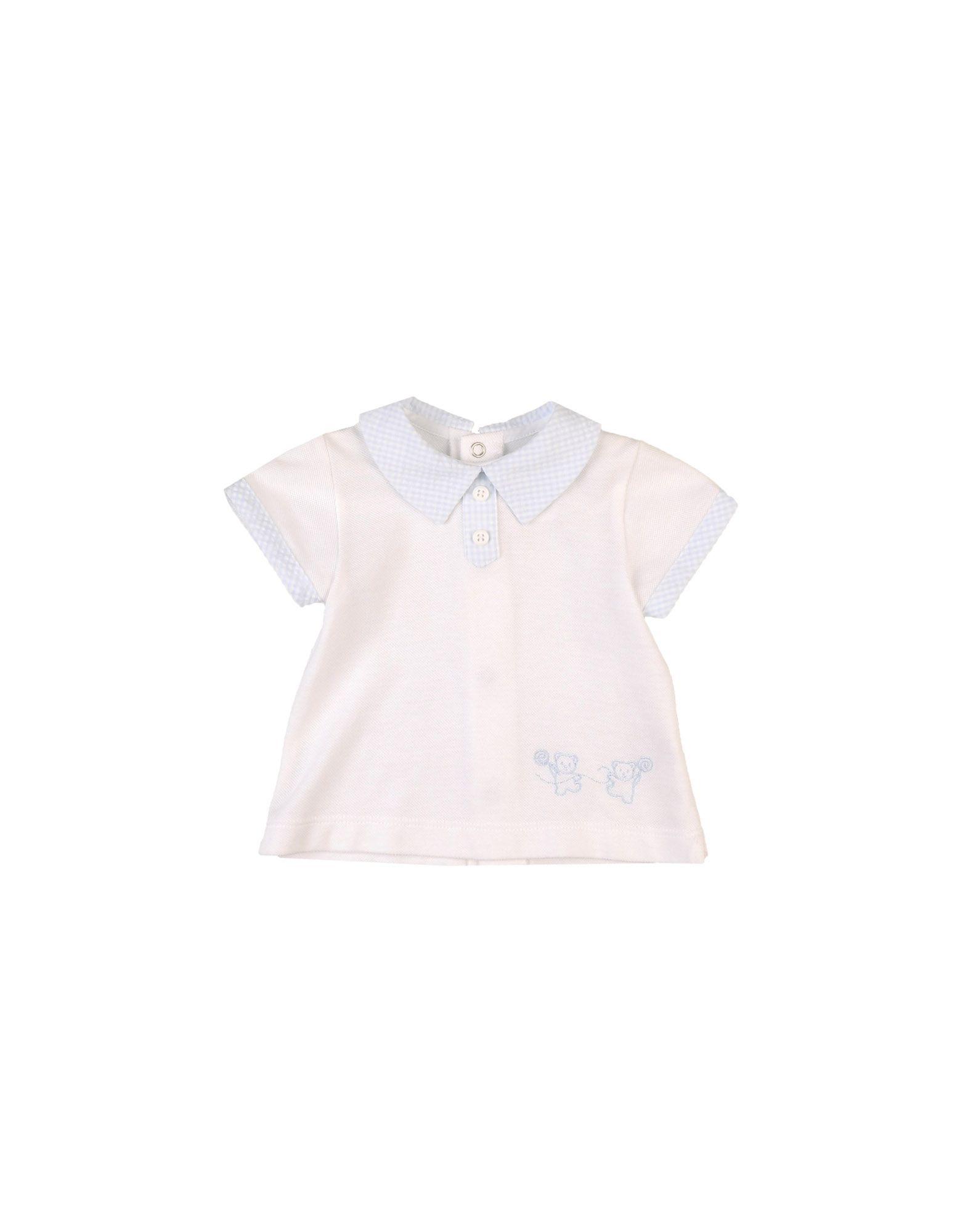 《セール開催中》ALETTA ボーイズ 0-24 ヶ月 ポロシャツ ホワイト 9 コットン 100%