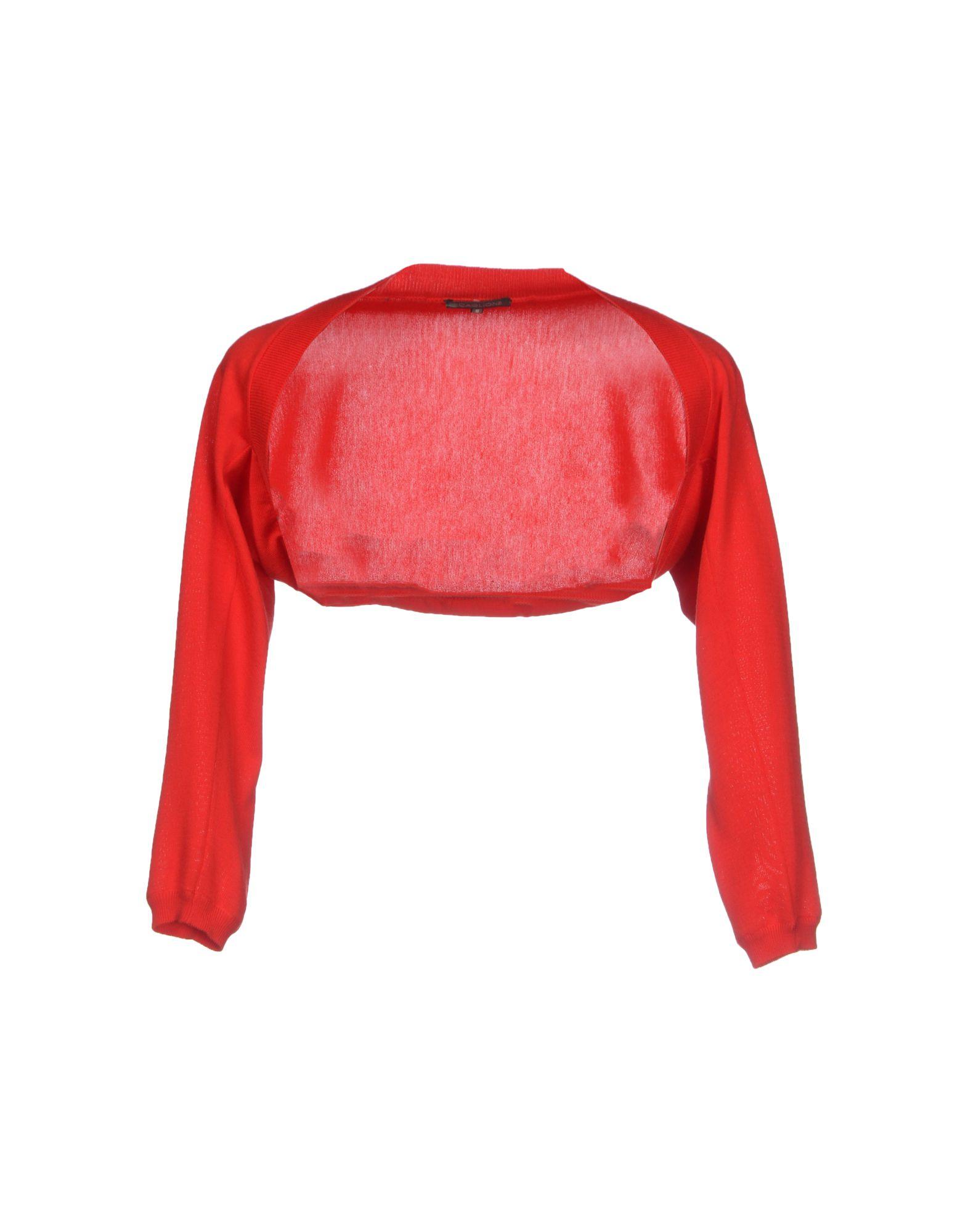SCAGLIONE Damen Bolero Farbe Rot Größe 4