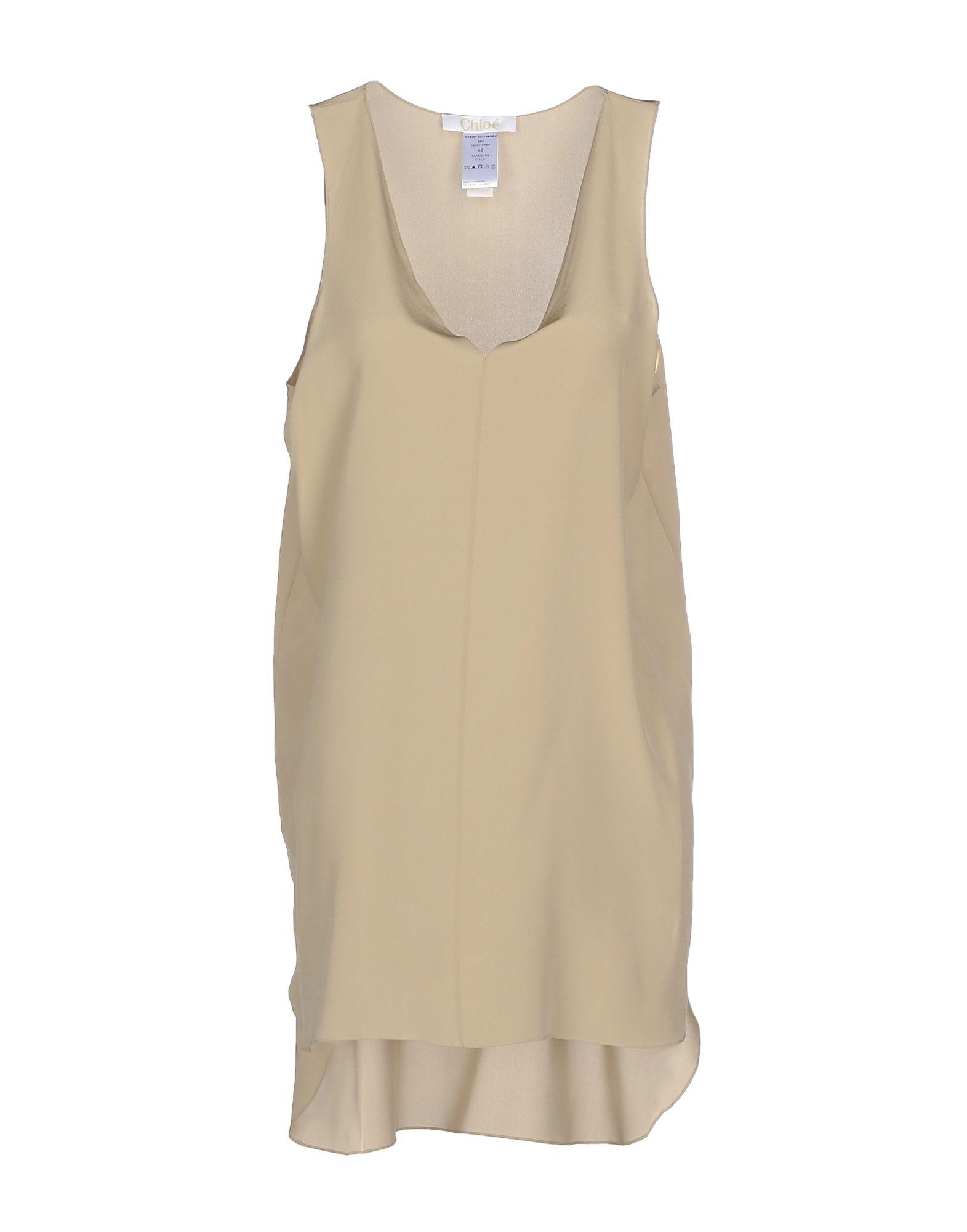 цена CHLOÉ Короткое платье онлайн в 2017 году