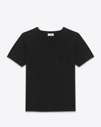 SAINT LAURENT T-Shirt and Jersey U CLASSIC SHORT SLEEVE POCKET T-SHIRT IN BLACK Cotton JERSEY f