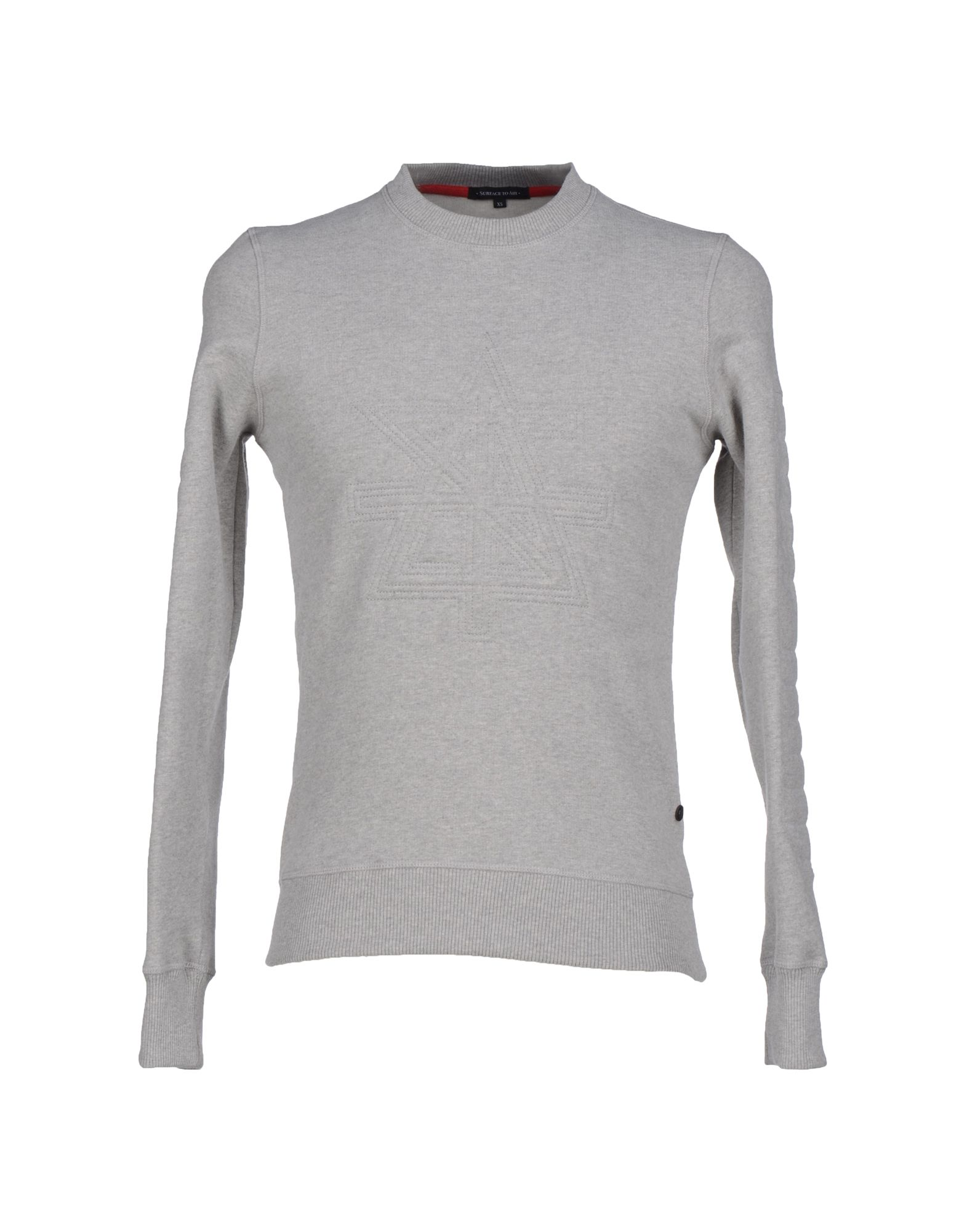 SURFACE TO AIR Sweatshirt in Light Grey