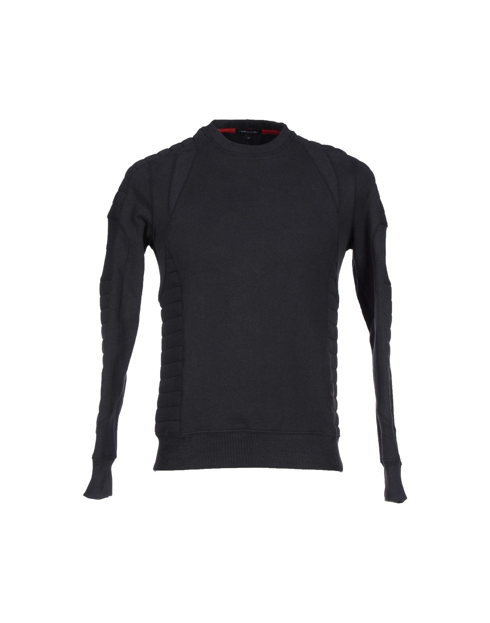 SURFACE TO AIR Sweatshirt in Black