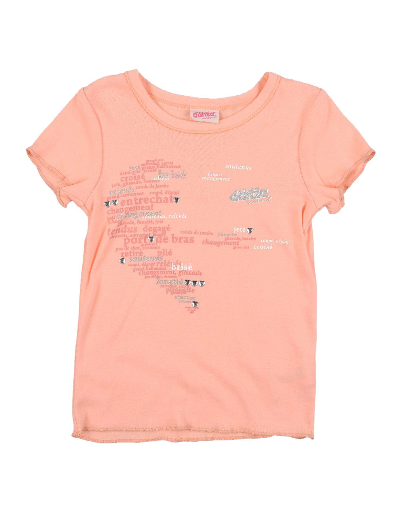 DIMENSIONE DANZA SISTERS Mädchen 0-24 monate T-shirts Farbe Pfirsich Größe 10