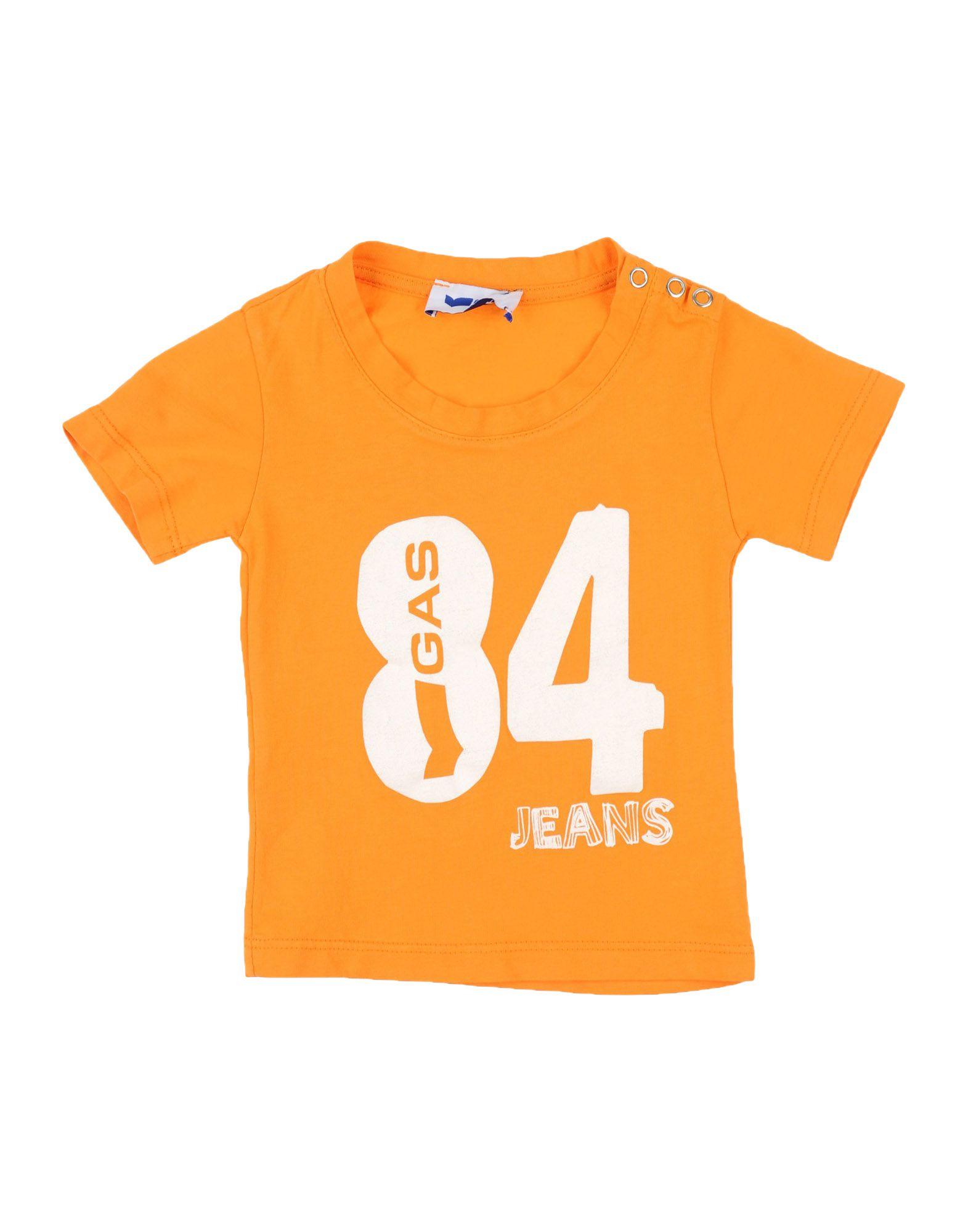 Gas Kids' T-shirts In Orange