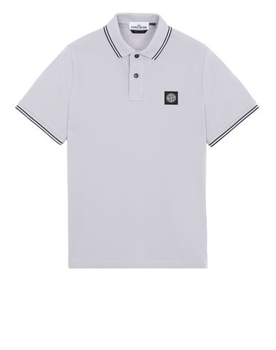STONE ISLAND 22S18 Polo shirt Man Dust Gray USD 187