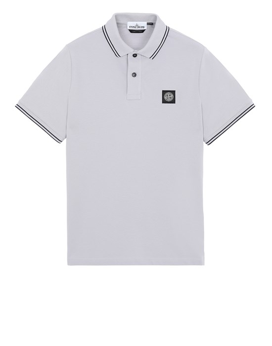 STONE ISLAND 22S18 Polo shirt Man Dust Gray