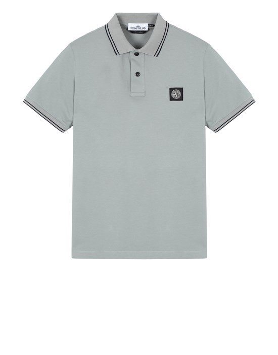 STONE ISLAND 22S18 Polo shirt Man Sage Green