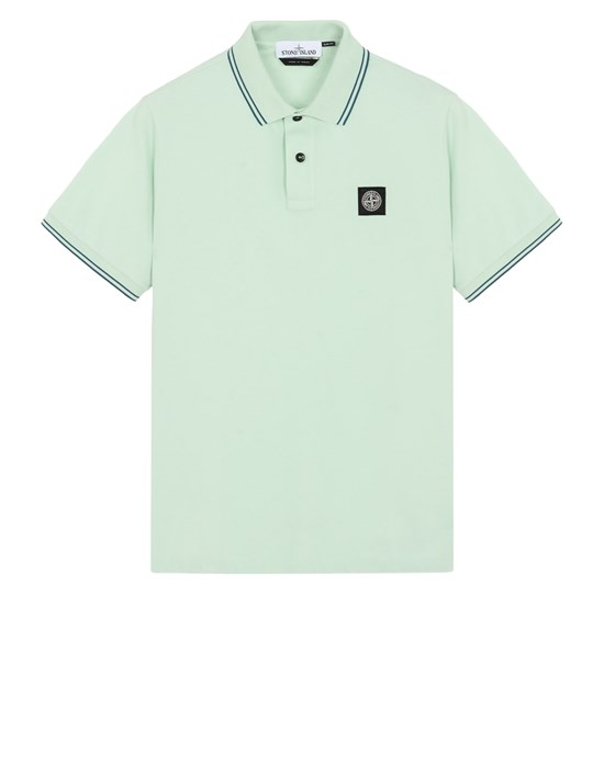 STONE ISLAND 22S18 Polo shirt Man Light Green