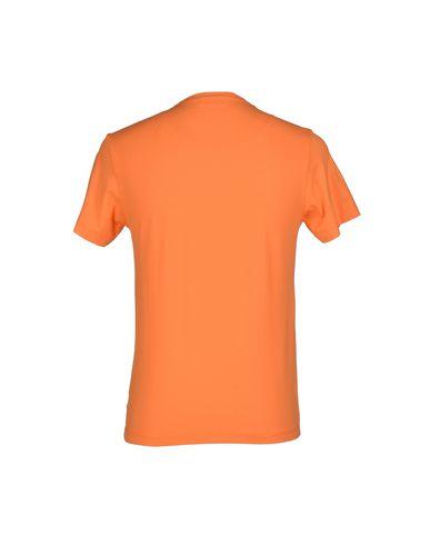Фото 2 - Женскую футболку LA CORTE AMBROSIO оранжевого цвета