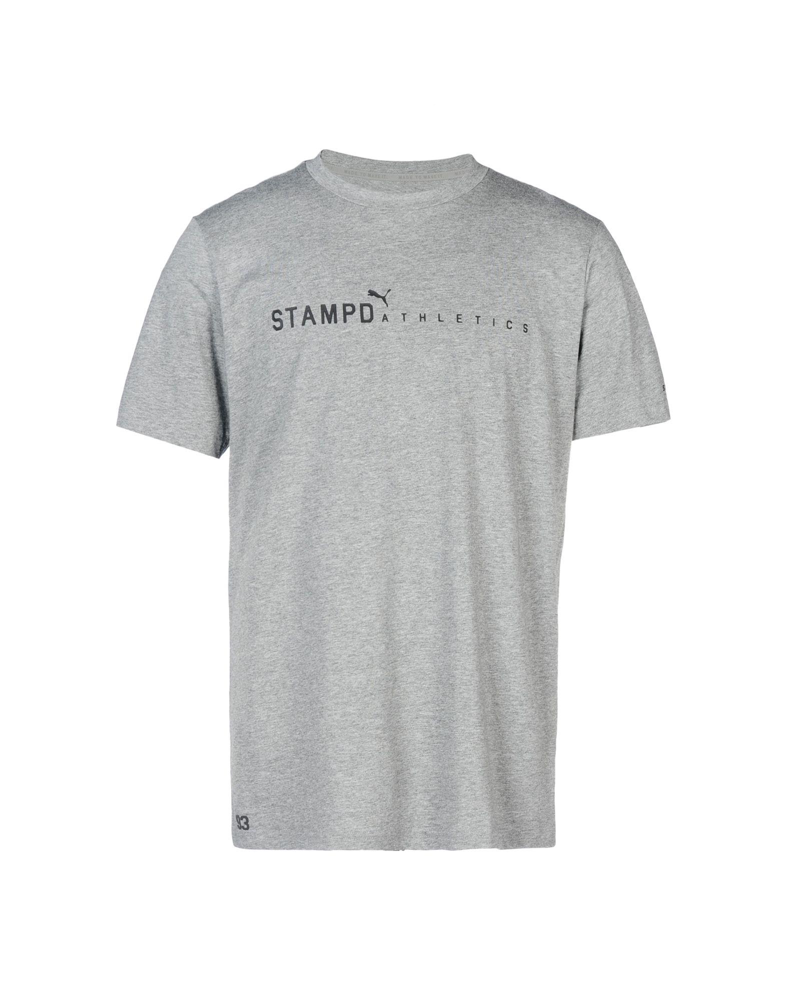 《送料無料》STAMPD x PUMA メンズ T シャツ グレー M コットン 100% STAMPD LA LOGO TEE
