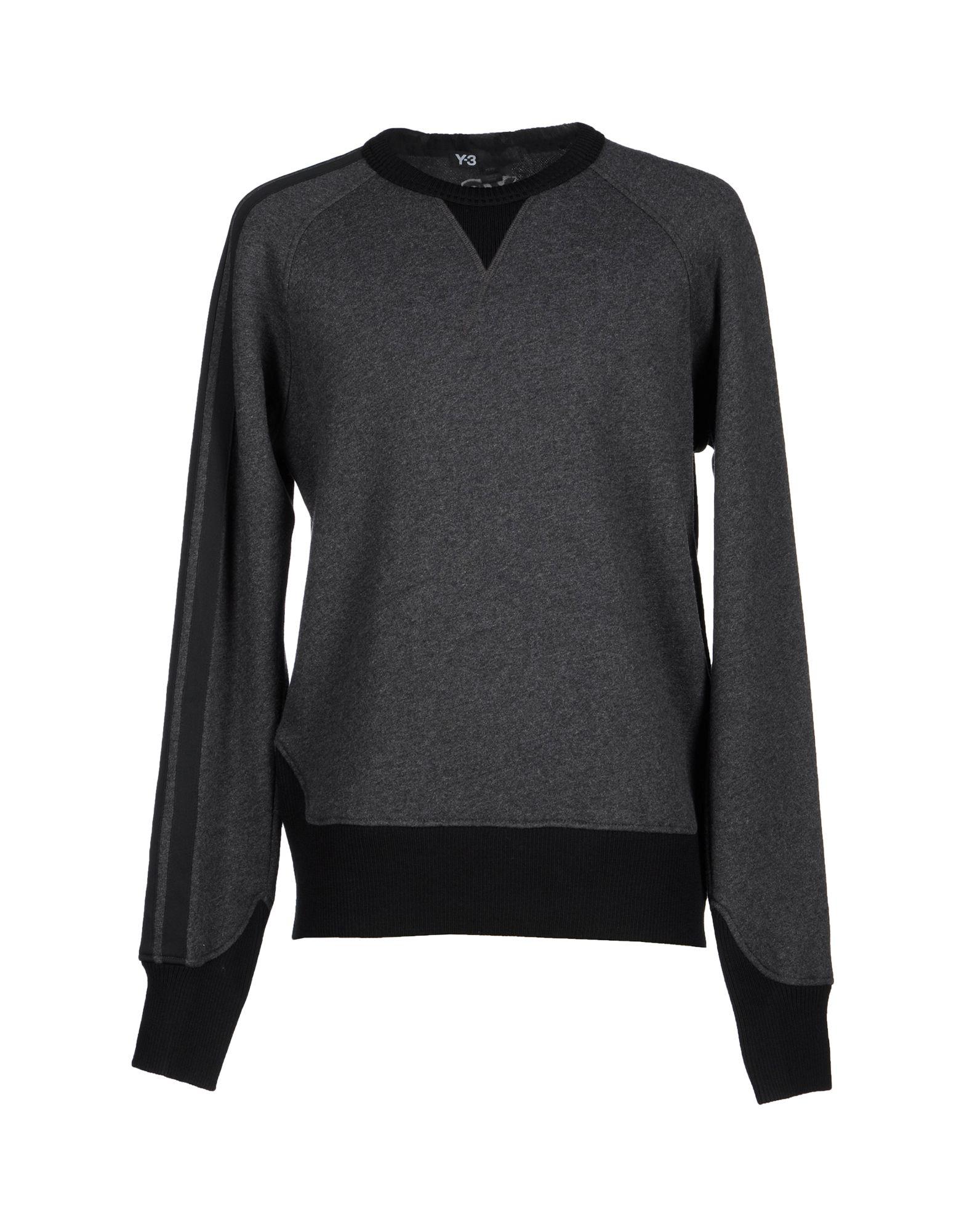 《セール開催中》Y-3 メンズ スウェットシャツ 鉛色 XL ウール 57% / コットン 43%
