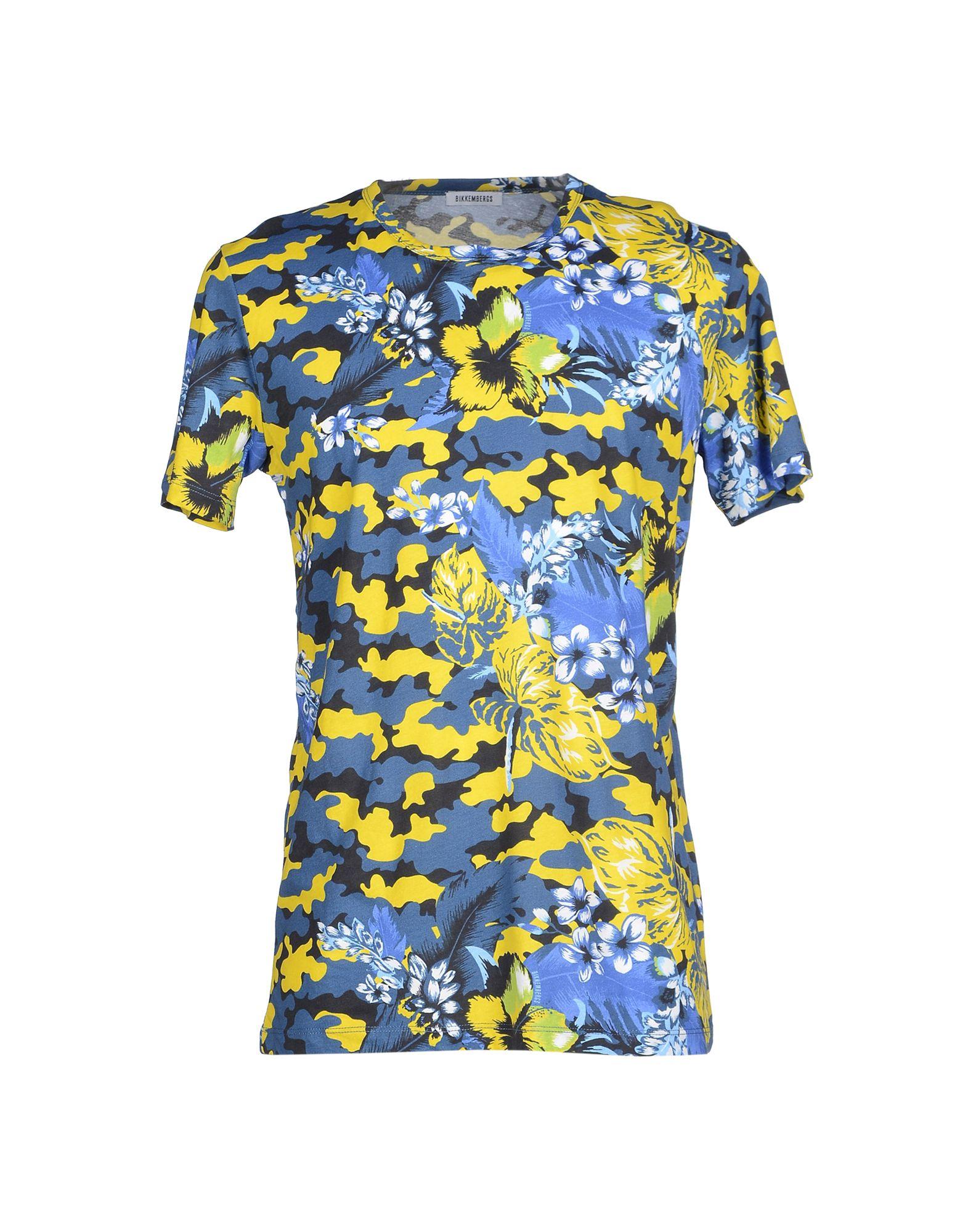 《送料無料》BIKKEMBERGS メンズ T シャツ イエロー XL コットン 100%