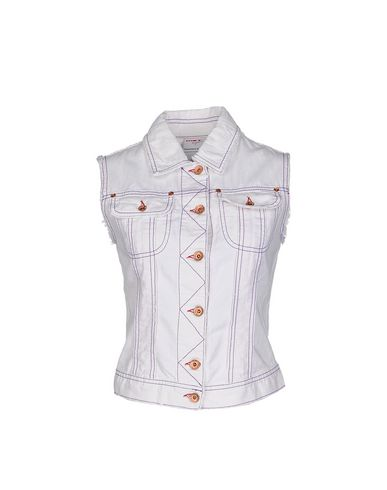 Bianco donna MET IN JEANS Capospalla jeans donna