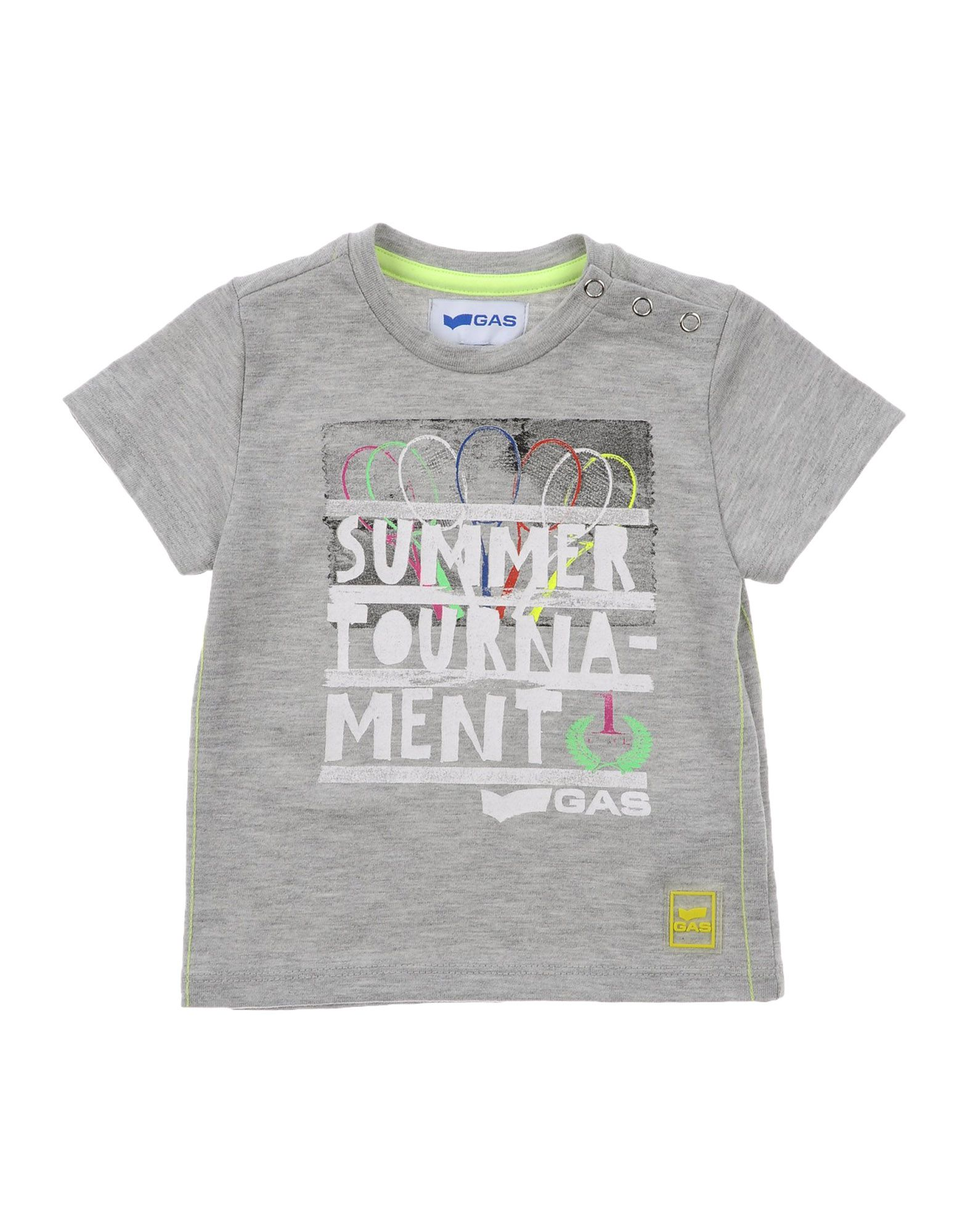 Gas Kids' T-shirts In Gray