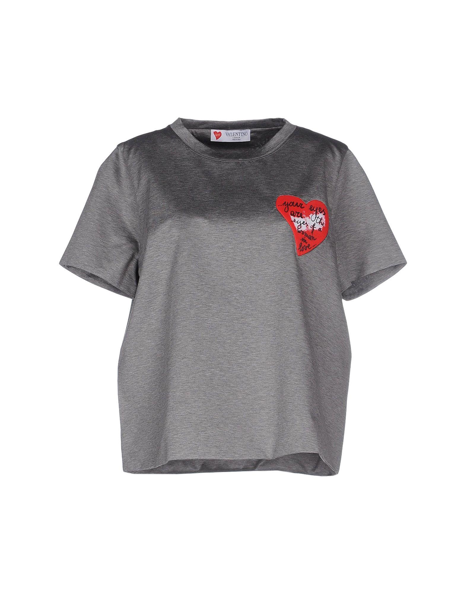 VALENTINO Damen T-shirts Farbe Grau Größe 6