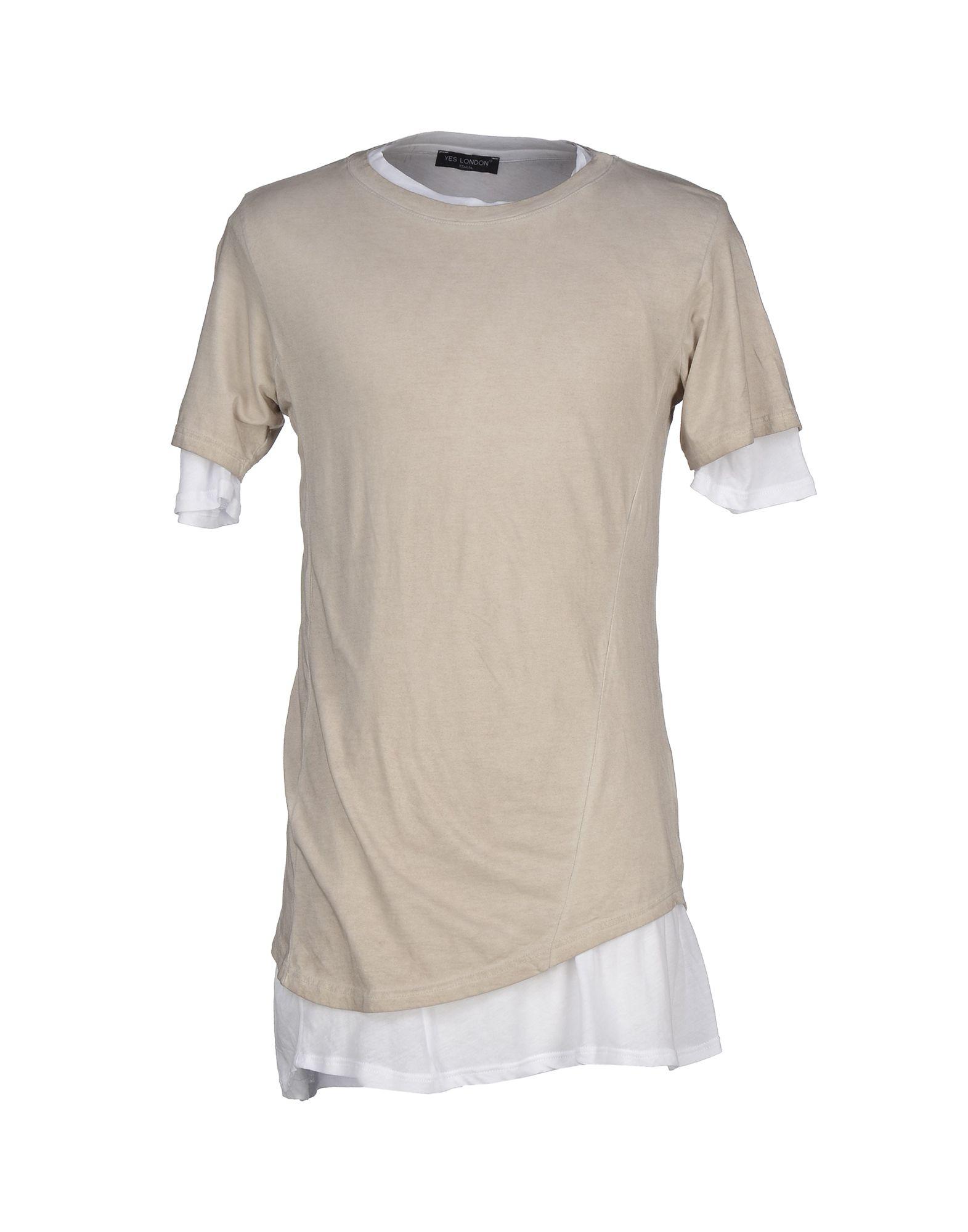 《送料無料》YES LONDON メンズ T シャツ サンド S コットン 100%