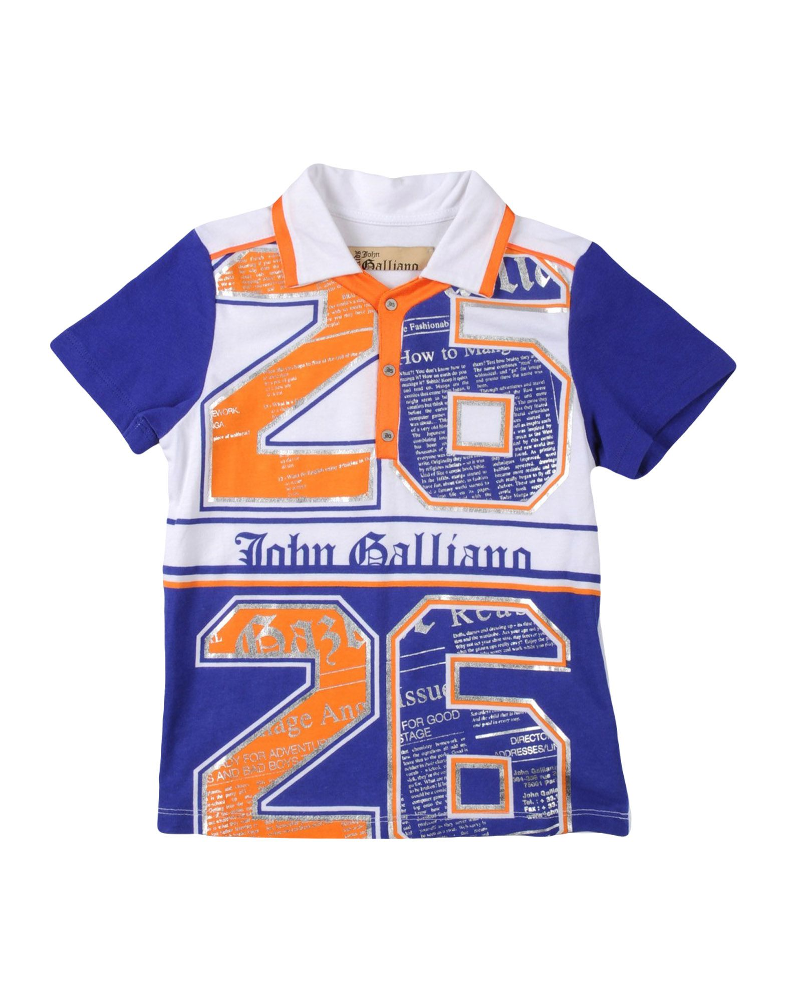 JOHN GALLIANO KIDS Polo shirts
